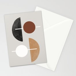 Moon and Sun Abstract Stationery Cards