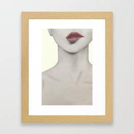 I bite my lips when I'm nervous 02 Framed Art Print