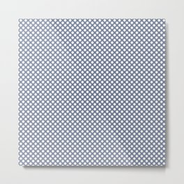 Stonewash and White Polka Dots Metal Print