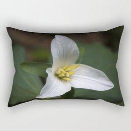 Trillium flower. Rectangular Pillow