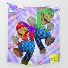 Pop Art Mario Brothers Wall Tapestry