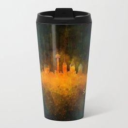 San Antonio City Skyline Hq v4 Travel Mug