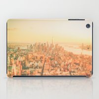 new york city iPad Cases featuring New York City Sunset by Vivienne Gucwa