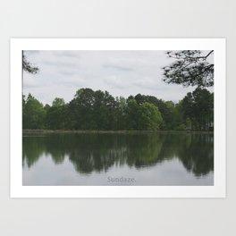 Lake. Art Print