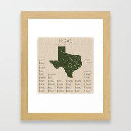 Texas Parks Framed Art Print