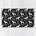 French Bulldog floral minimal black and white pet silhouette frenchie pattern by petsilhouettes
