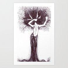 spring stretches Art Print