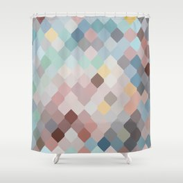 Colored mesh pattern Shower Curtain