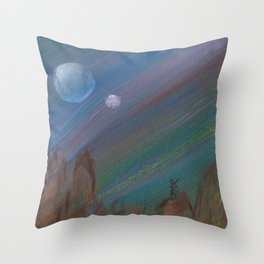 Hunting by the Light of the Traveler Throw Pillow