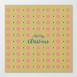 Merry Christmas GOLD Canvas Print