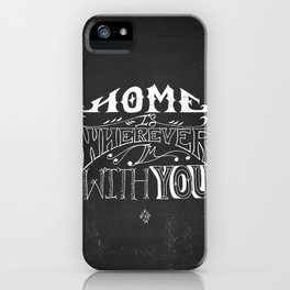 Home is Wherever im With You iPhone Case
