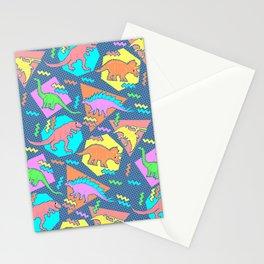 Nineties Dinosaur Pattern Stationery Cards