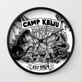Camp Kaiju Wall Clock