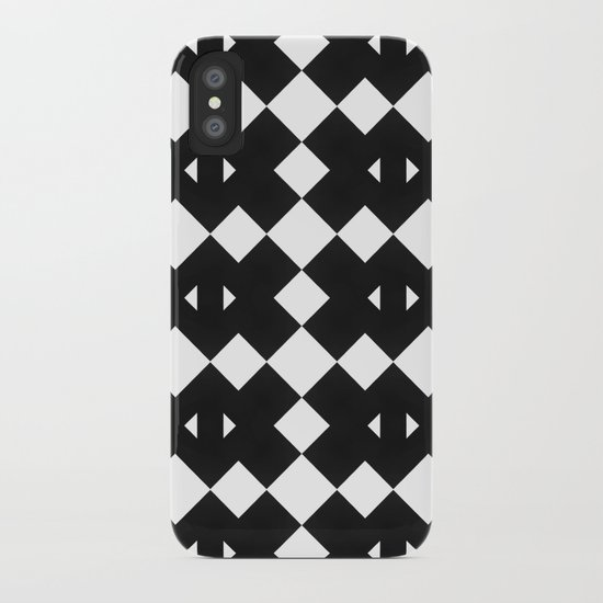 Branting Black & White Pattern iPhone Case