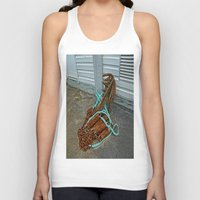 anchors Tank Tops featuring Rusty anchors by Ricarda Balistreri