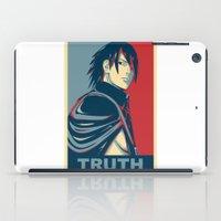 kakashi iPad Cases featuring Sasuke - Truth by KingSora