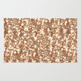 Golden confetti glitter sparkl Rug