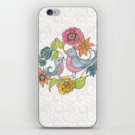 Blue Bird Garden iPhone Skin