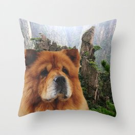 Dog Chow Chow Throw Pillow