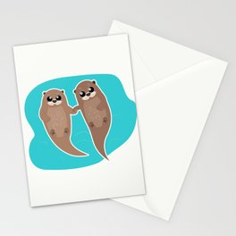 Cute Otters - Cuddle Party Stationery Cards