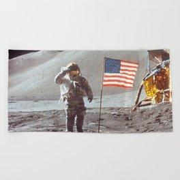 American Moon Landing Beach Towel