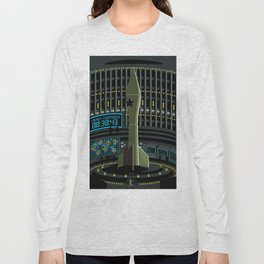 spy agent on missile launcher silo Long Sleeve T-shirt