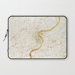 Shanghai Map Gold Laptop Sleeve