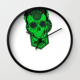 Bursting Geo Skull Wall Clock