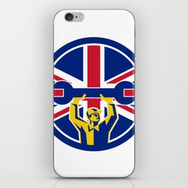 British Mechanic Union Jack Flag Icon iPhone Skin