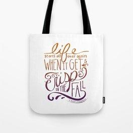 Great Gatsby Quote, F. Scott Fitzgerald Tote Bag