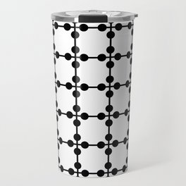 Droplets Pattern - White & Black Travel Mug
