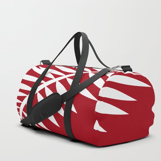 PALM LEAF RED AND WHITE PATTERN by saundramyles