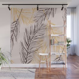 Feather love Wall Mural