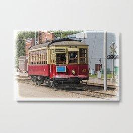 Trolley Car at the Fort Edmonton Museum in Edmonton Metal Print