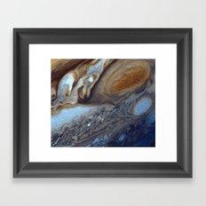 Jupiter Swirls Framed Art Print