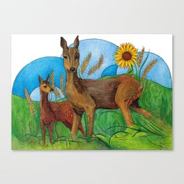 Fairy tale doe Canvas Print