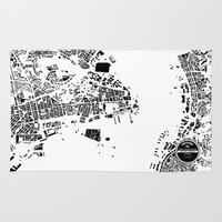 hong kong Area & Throw Rugs featuring Hong Kong by Maps Factory