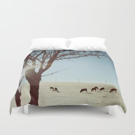 Tree and Cows Duvet Cover