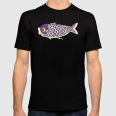 Koi Lavender Black MEDIUM Mens Fitted Tee