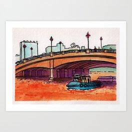 Jones Bridge Art Print