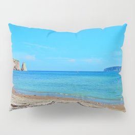 Perce Beach panoramic Pillow Sham