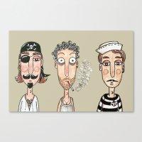 men Canvas Prints featuring Men by t i t i l l a