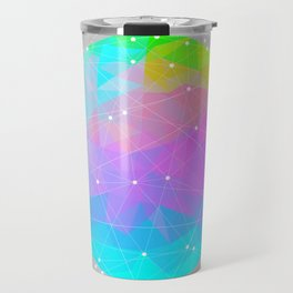 The Dots Will Somehow Connect (Geometric Sphere) Travel Mug