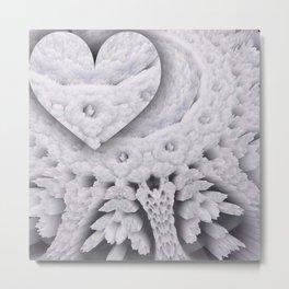 heart in openwork Metal Print
