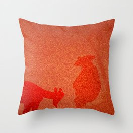 FIERY PET AND ITS MASTER Throw Pillow