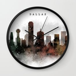 Dallas City Skyline Wall Clock