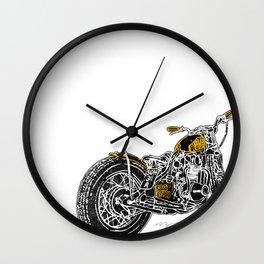"""Rootbeer Bobber"" Custom Motorcycle Wall Clock"