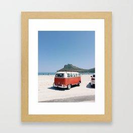 Hout Bay Red Bus Framed Art Print