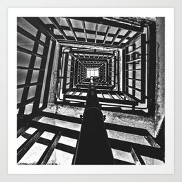 Up the staircase @ Park Hill, Sheffield Art Print