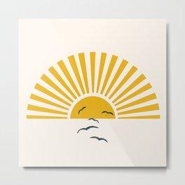 Minimalistic Summer I Metal Print